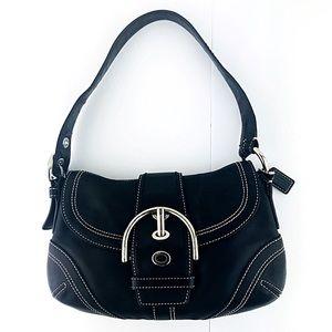 Soho Small 10316 Black Leather Hobo Shoulder Bag